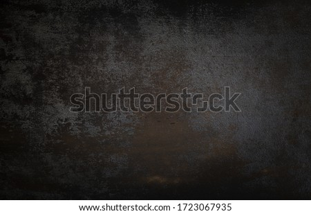 dark wall background. Empty workplace, in front of an abstract package. #1723067935