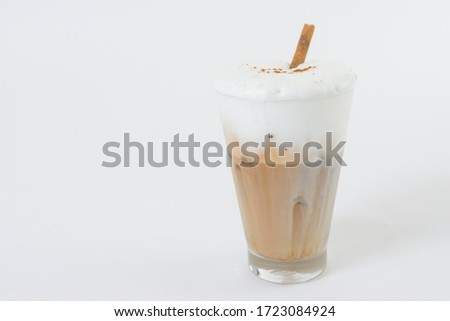 cappuchino coffee,Cup of cappuchino coffee isolated on white background #1723084924