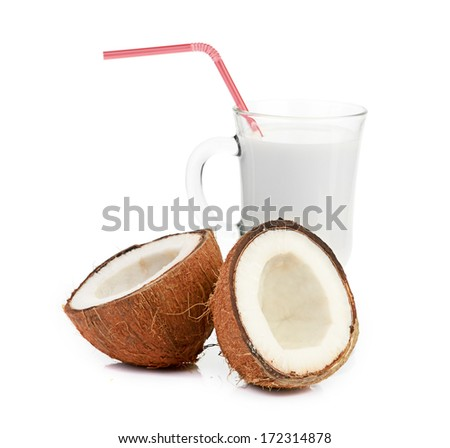 coconut and milk glass #172314878