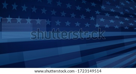 USA independence day abstract background with elements of the american flag in dark blue colors #1723149514