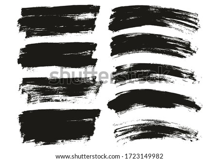 Flat Paint Brush Thin Long & Curved Background Mix High Detail Abstract Vector Background Mix Set  #1723149982
