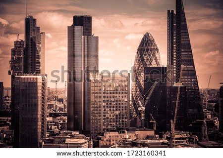 Skyscrapers in London HDR, UK