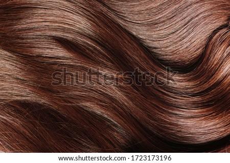 Ideal natural brown hair close up. Royalty-Free Stock Photo #1723173196
