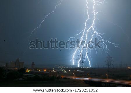Lightning Strike and High Voltage Network