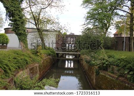 a nice River in Delmenhorst city(Germany)  Royalty-Free Stock Photo #1723316113
