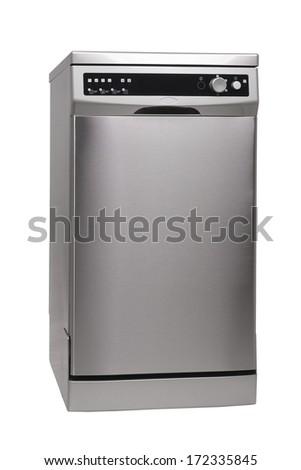 Modern freestanding dishwasher isolated on white  #172335845