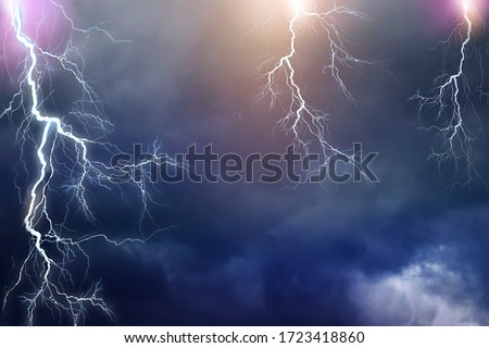 Lightning, thunder cloud dark cloudy sky