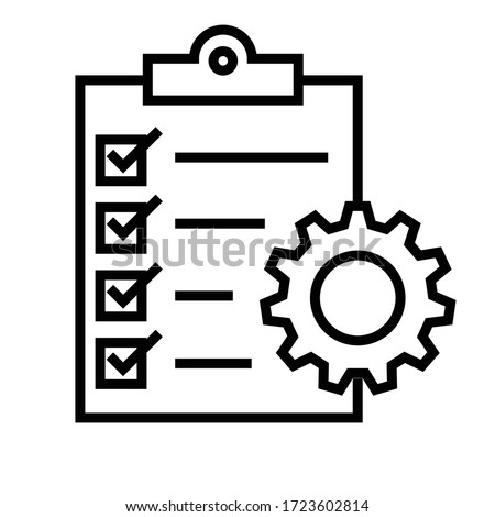 Project Management Vector Line Icon Royalty-Free Stock Photo #1723602814