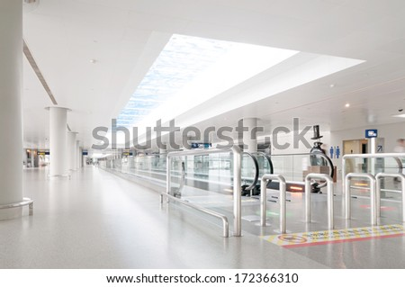 Interior of the airport in pudong shanghai china #172366310