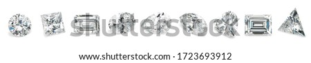 Popular Diamond Shapes Isolated Diamond Shapes on White Background Royalty-Free Stock Photo #1723693912