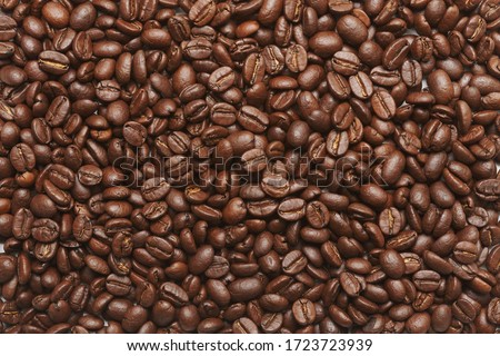 Freshly roasted coffee beans background #1723723939