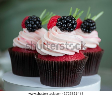 Fruit cup cakes prepared with a special presentation. #1723819468