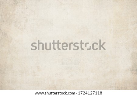 OLD NEWSPAPER BACKGROUND, LIGHT GRUNGE PAPER TEXTURE, BLANK TEXTURED PATTERN, SPACE FOR TEXT Royalty-Free Stock Photo #1724127118