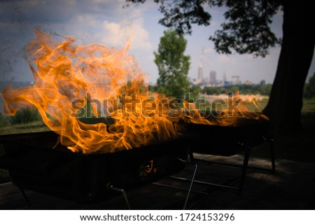 BBQ Flame - background picture featuring sharp flame effect and texture