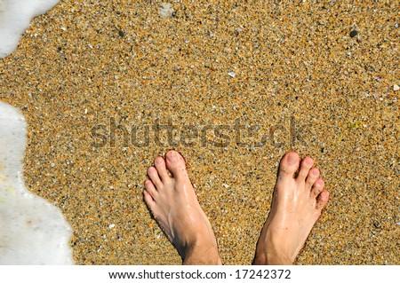 feet at beach #17242372