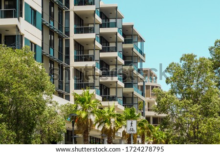New, Modern Apartment Buildings in Waterloo, Sydney, NSW, Australia. #1724278795