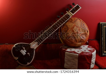 Sitar, Traditional Indian Music instrument Royalty-Free Stock Photo #1724316394