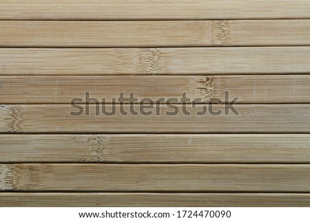 Blinds made of quality solid wood. Blinds made by combining wood with handwork. Blinds made of wooden slats. Wooden slats. Natural wood lath line arrange pattern texture background. #1724470090