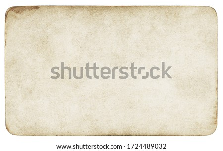 Vintage paper background isolated - (clipping path included)  #1724489032