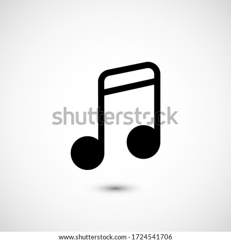 Note music vector icon. The symbol song icon for web site. Illustration Melody or tune for mobile apps. Pictogram Note. Minimalist icon music, note icon. Sound concept #1724541706