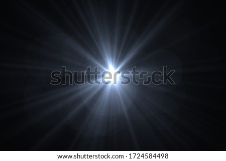 Abstract Natural Sun flare on the black background, flare light transition, effects sunlight, lens flare #1724584498