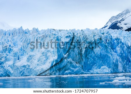 Big crack in Seno Garibaldi glcier Royalty-Free Stock Photo #1724707957