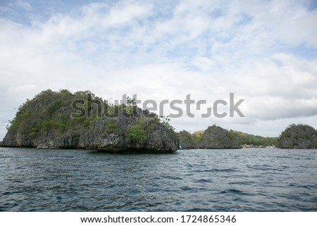 beautiful landscape of sea and nature in Philippine island #1724865346