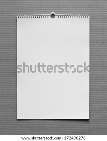 Photo. Blank wall calendar with spring on a texture background
