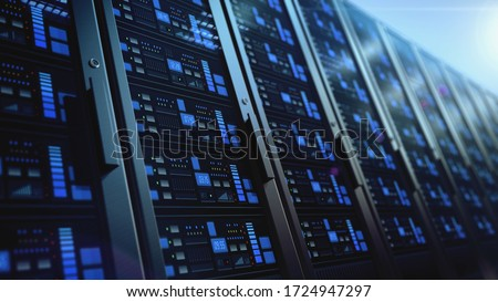 network workstation servers 3d illustration isolated on white background #1724947297