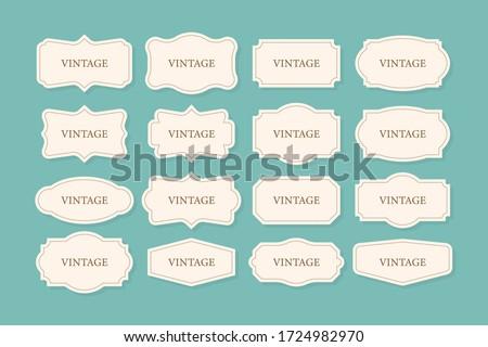 Vintage Frames Set, clipart bundle. Retro collection for decorative design. Frame Retro collection for decorative design. Vector stock illustration. #1724982970