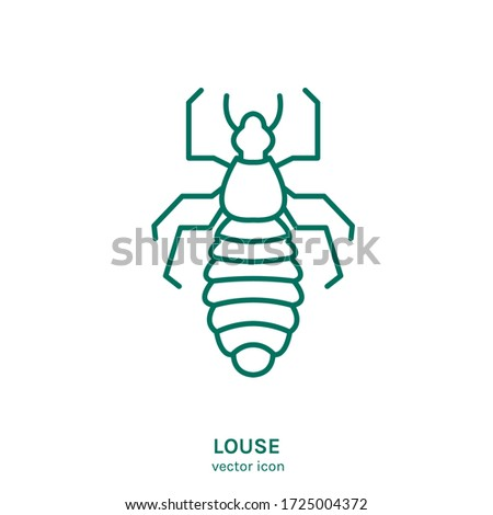 Human louse sign. Blood-sucking insect pictogram. Outline icon. Graphic design for print, web, mobile and infographics in a simple style. Editable vector illustration isolated on white background.