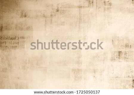 old newspaper background texture wallpaper design tile. Royalty-Free Stock Photo #1725050137
