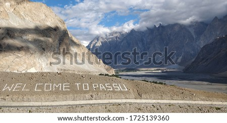 Passu is a small village in gligit Baltistan region in Pakistan..Tupopdan famously know as Passu cones or Passu cathedral  is 6106 meters high mountain can be seen in the background. pic taken 7/9/19