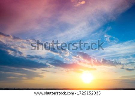Colorful cloudy sky at sunset. Gradient color. Sky texture, abstract nature background #1725152035