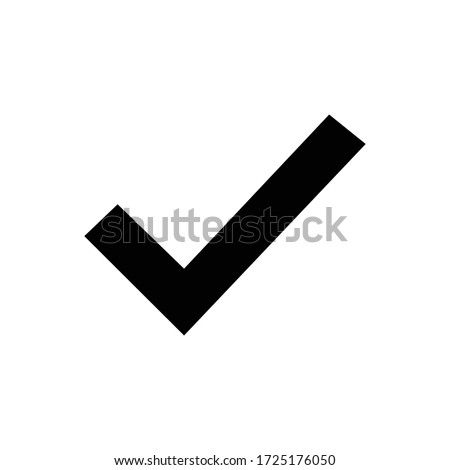 Check with glyph icon illustration Royalty-Free Stock Photo #1725176050