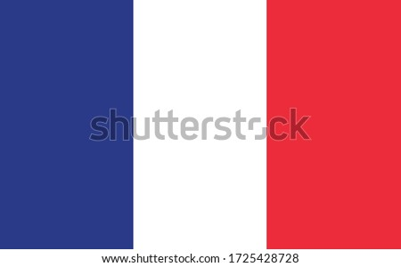 France flag vector graphic. Rectangle French flag illustration. France country flag is a symbol of freedom, patriotism and independence. #1725428728