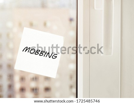 Paper with text mobbing for text with background #1725485746