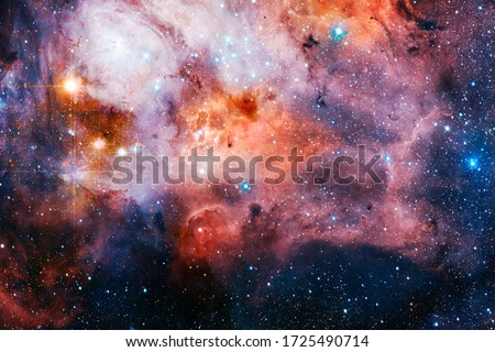 Galaxy in deep space. Beauty of universe. Elements furnished by NASA. #1725490714