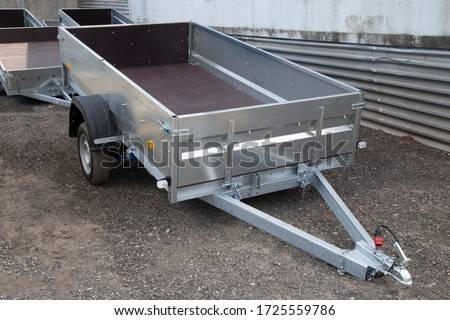 Open car trailer. Trailer for passenger cars.Sale, rental and maintenance of trailers. #1725559786