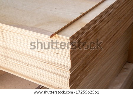 Plywood for construction.Finishing material. Building material. Royalty-Free Stock Photo #1725562561