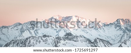 Summits of French Pyrenees mountains from the Pic du Midi