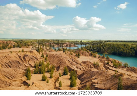 Mountains of sand,  valley with rocks #1725933709