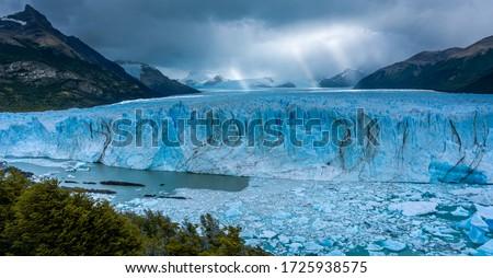 Glacier Perito Moreno national park Los Glaciares. The Argentine Patagonia in Autumn.