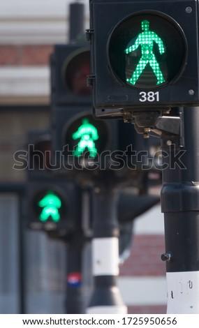 Pedestrian traffic lights, Amsterdam, Netherlands #1725950656