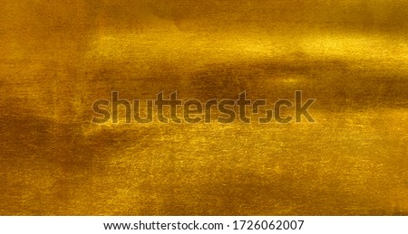 Shiny yellow leaf gold foil texture background #1726062007