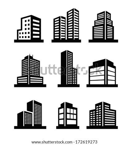 Buildings icons Royalty-Free Stock Photo #172619273