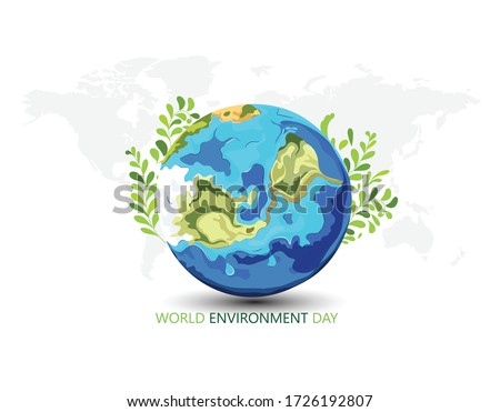 innovative Poster Or Banner Of World Environment Day Royalty-Free Stock Photo #1726192807