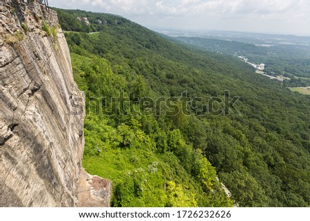 a clif in the Seven States Lookup Mounta, view to Tenessee North Gorgia USA #1726232626
