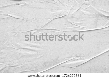 Blank white crumpled and creased paper poster texture background Royalty-Free Stock Photo #1726272361