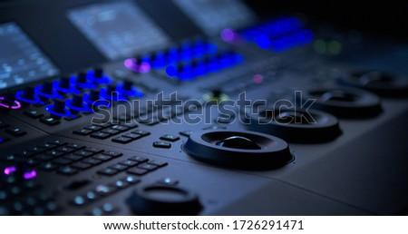Color Grading Panel. Editing Suit. editing room. Editing Studio